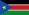 Flagge zur Ländervorwahl von Südsudan